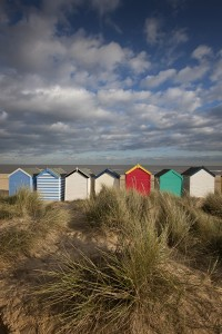 Beach huts on Southwold beach, Suffolk, England. Additional Credit: Choose Suffolk