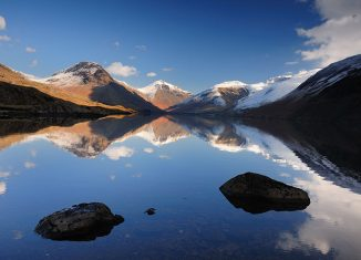 Snow capped mountains at Wastwater lake. Credit: Visit Britain