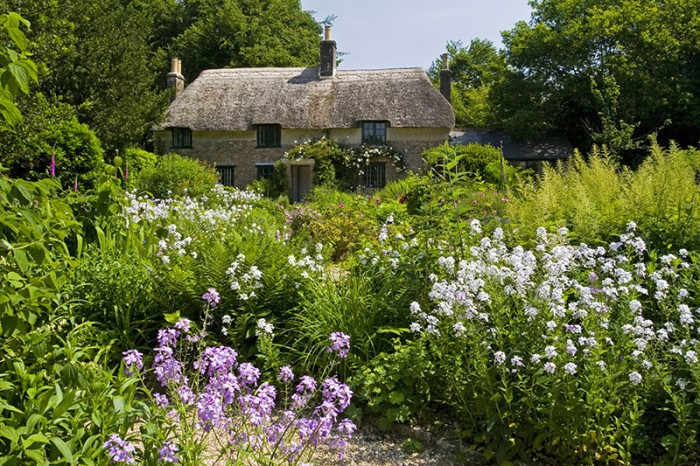 Hardy's Cottage, the birthplace in 1840 of novelist and poet Thomas Hardy , at Higher Brockhampton, near Dorchester, Dorset.