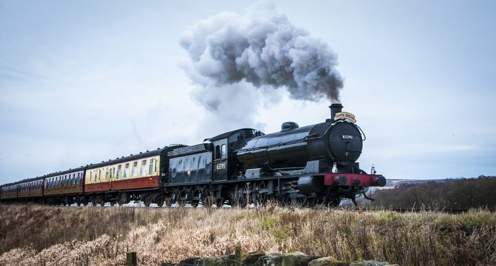 Vintage Steam Train, Yorkshire. Credit: Creative Commons