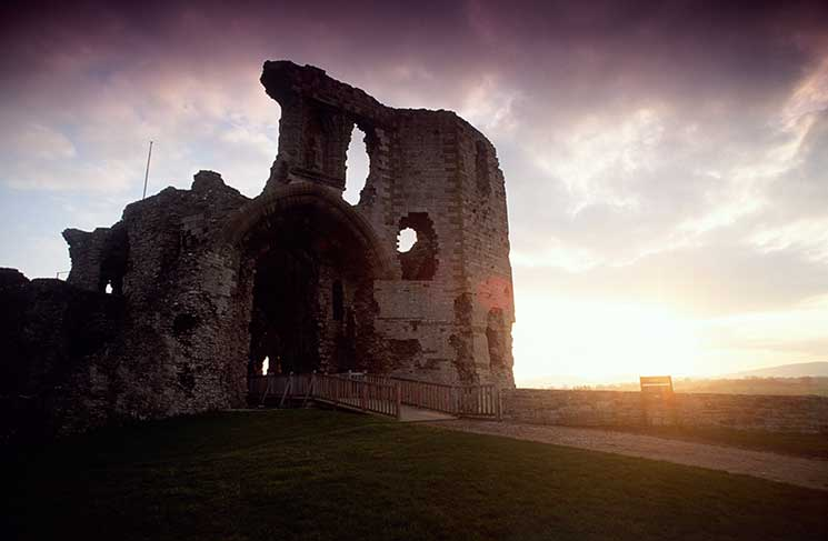 Denbigh Castle, romantic, wales