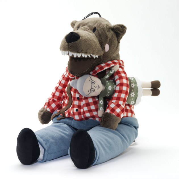Ikea wolf Lufsig soft toy. © Victoria and Albert Museum, London