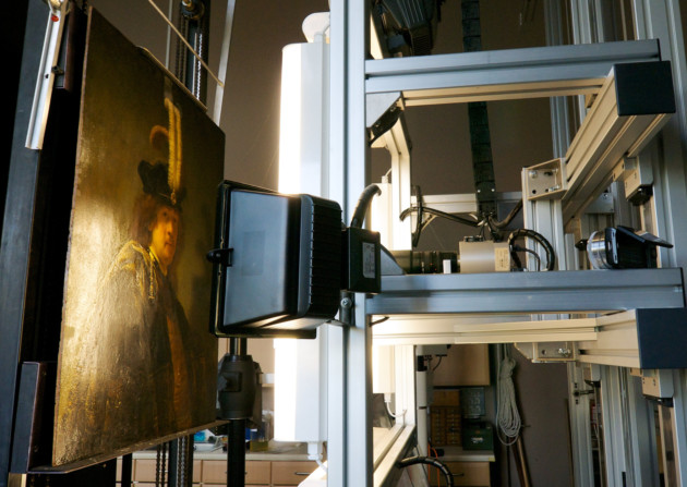 Rembrandt under the spotlight during scientific analysis with HKI