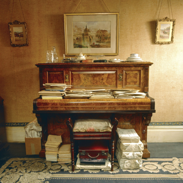 The piano in the Sitting Room of Mr Straw's House. ©NTPL/Geoffrey Frosh