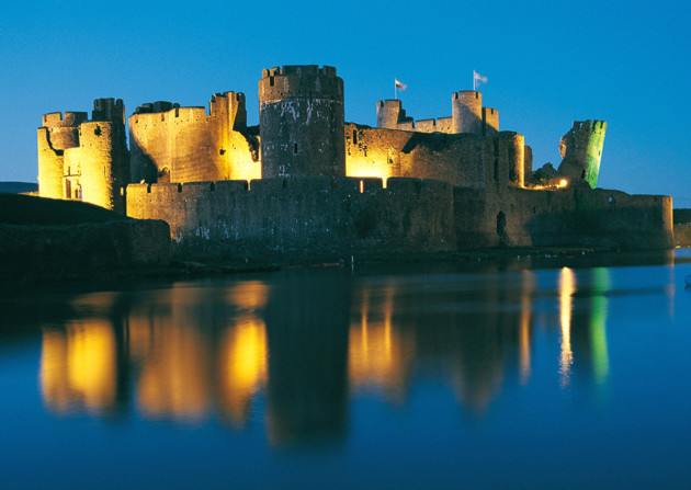 Caerphilly Castle. © Crown copyright (2006) Visit Wales