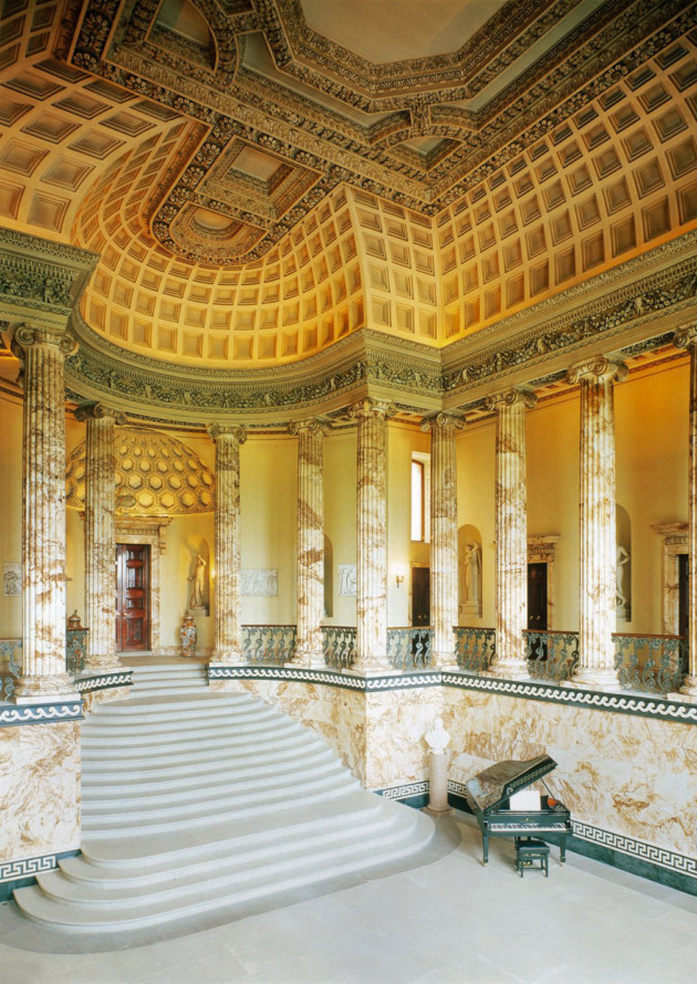 Holkham Halls Magnificent Marble Hall Image Estate