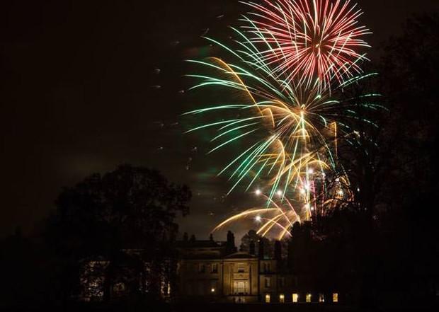 Broughton Hall fireworks. Image courtesy of Elysian Estates