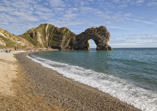 The route leads to Lulworth Cove, from where you can walk down to Durdle Door, a Dorset landmark. Photo: Getty Images/iStockphoto/Thinkstock