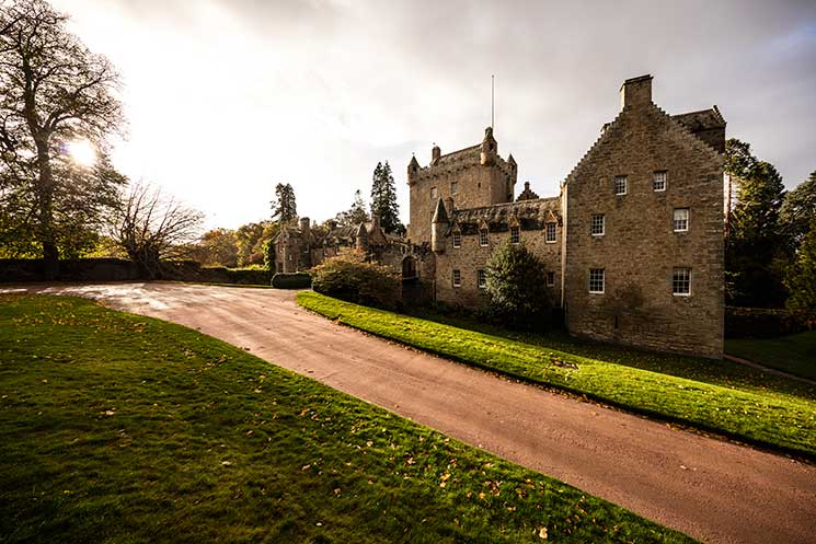 Cawdor Castle, a 15th-century private fortress by the Thanes of Cawdor, built around a medieval tower. Credit: VisitBritain/Andrew Pickett