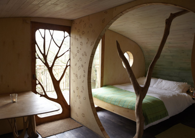 8 great treehouses to stay in for 8 living room tree houses powys