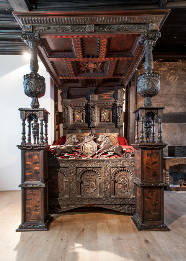 Could this be the oldest bed in Britain? Ordsall Hall, Salford. Photo: Nick Harrison