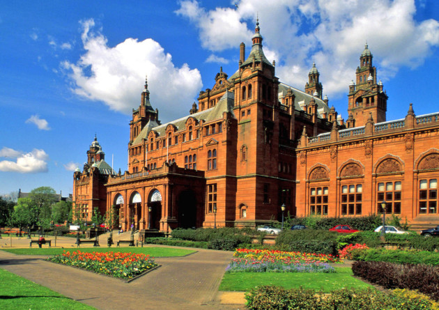 The Kelvingrove has 22 themed galleries displaying 8000 objects, brought together from across Glasgow Museums' rich collections