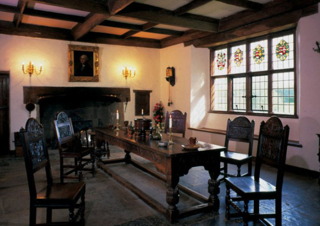 The Great Hall, where Lawrence Washington greeted guests. Photo copyright: Sulgrave Manor