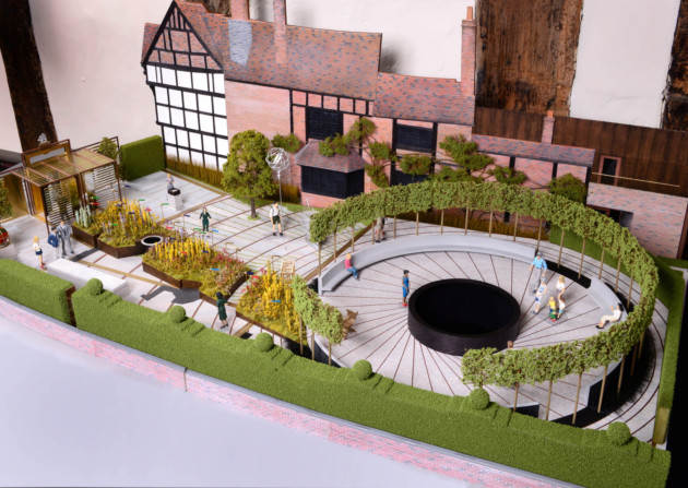 Model of the New Place project. Photo: The Shakespeare Birthplace Trust