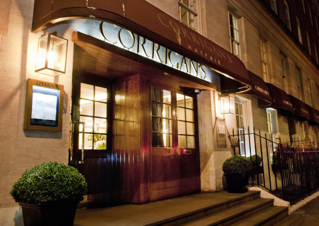 Mayfair's Michelin-starred Corrigan's restaurant