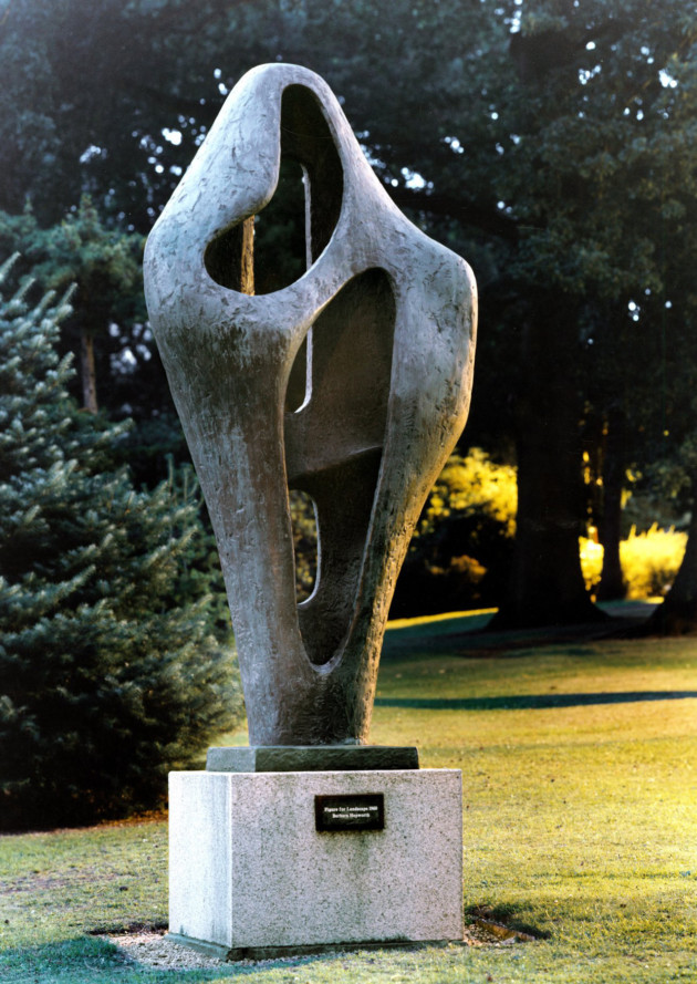 Figure for Landscape by Barbara Hepworth, at Streatham Campus, University of Exeter. Photo: John Melville/University of Exeter