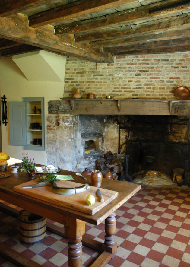 The kitchen at Oliver Cromwell's House, where his wife, Elizabeth, often baked eel pie, once a speciality of the area. Photo: Visit Ely