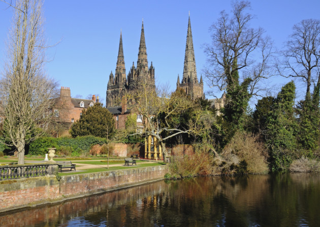 Cathedral and Remembrance Gardens, Lichfield. Photo: CaronB/ Getty Images/iStockphoto