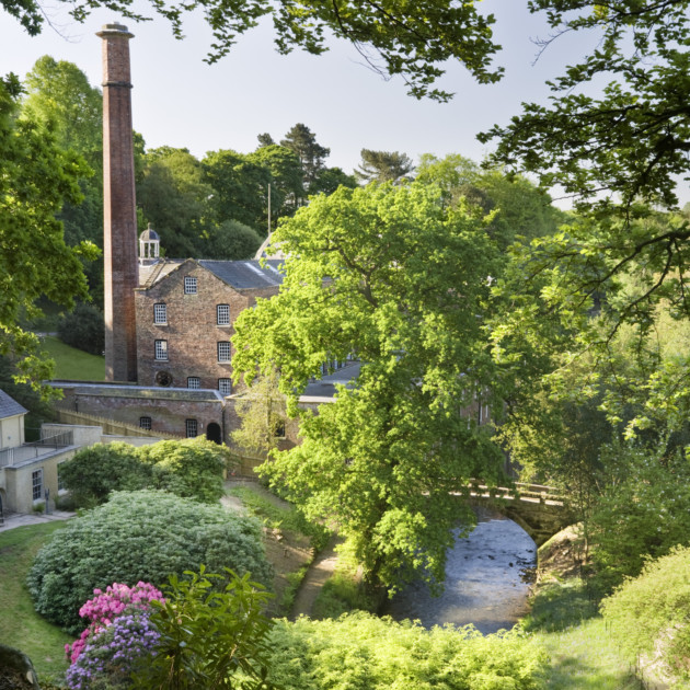 View from the beech tree on the top path of the garden at Quarry Bank Mill, Styal, Cheshire. ©National Trust Images/Andrew Butler