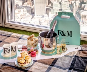 Enjoy afternoon tea at London's highest garden installation Credit: The View from The Shard