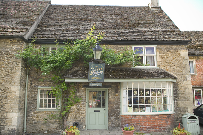 The Lacock bakery in Lacock Village, Wiltshire, England UK