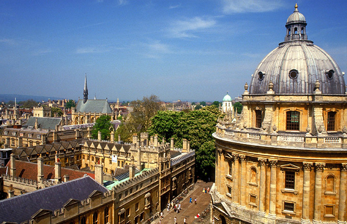 Racliffe Camera and Brasenose College, Oxford, Oxfordshire, England.