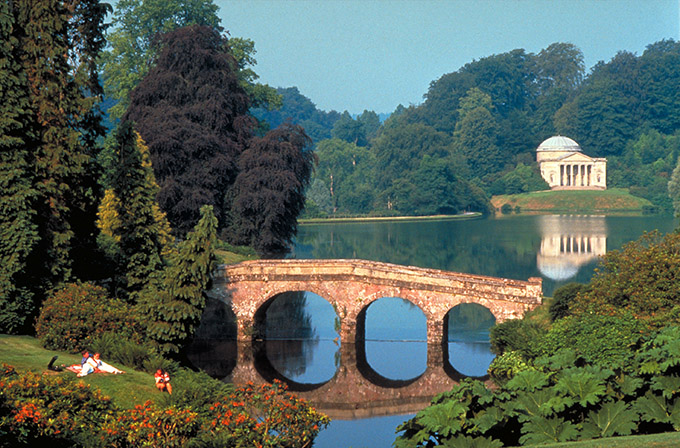 the pantheon, Stourhead, Wiltshire, England.