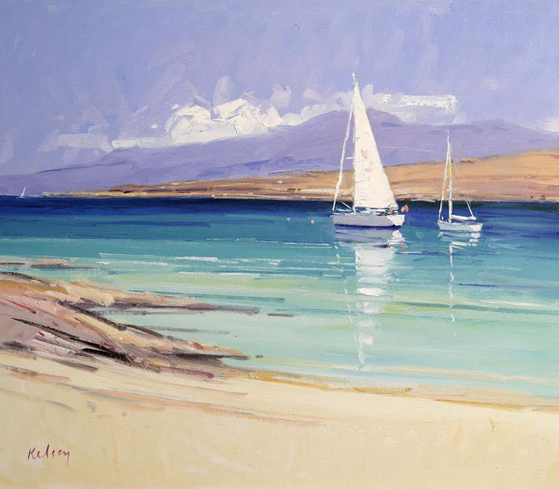 Yachts in the Sound of Iona. Oil on canvas. Credit: Robert Kelsey