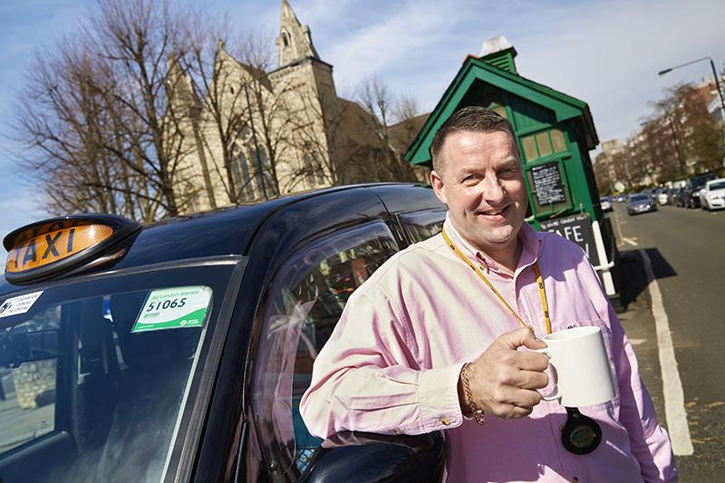 Black-cab driver, Paul Kirby. Credit: Arnhel de Serra