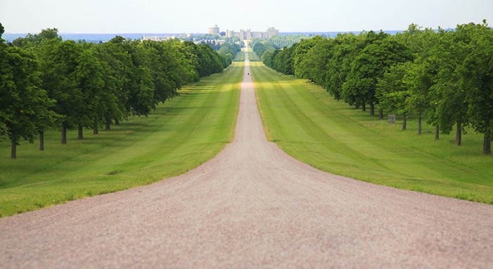 The Long Walk at Windsor Castle. Credit: VisitBritain