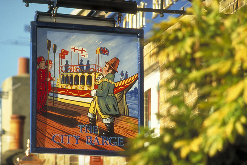 The City Barge pub sign