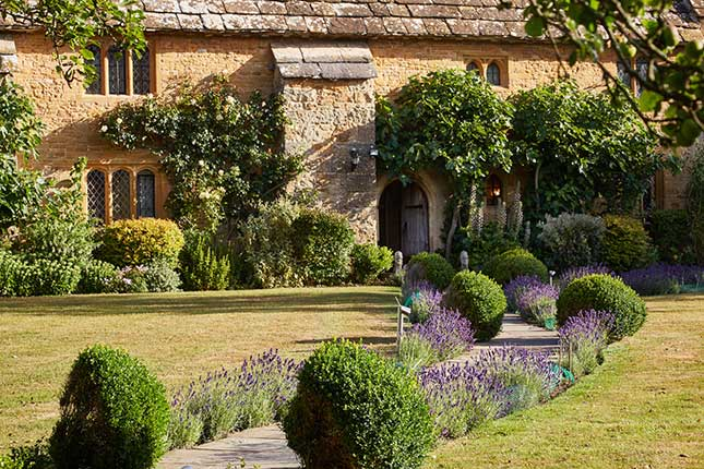 webBailiffscourt-Hotel-front-on-with-lavender-path