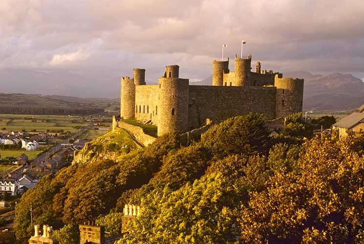 harlech, castle, history