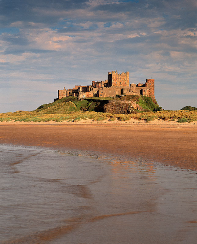 Bamburgh beach castle scotland
