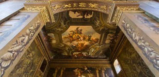 Proscenium arch, Painted Hall, Old Royal Naval Colleg