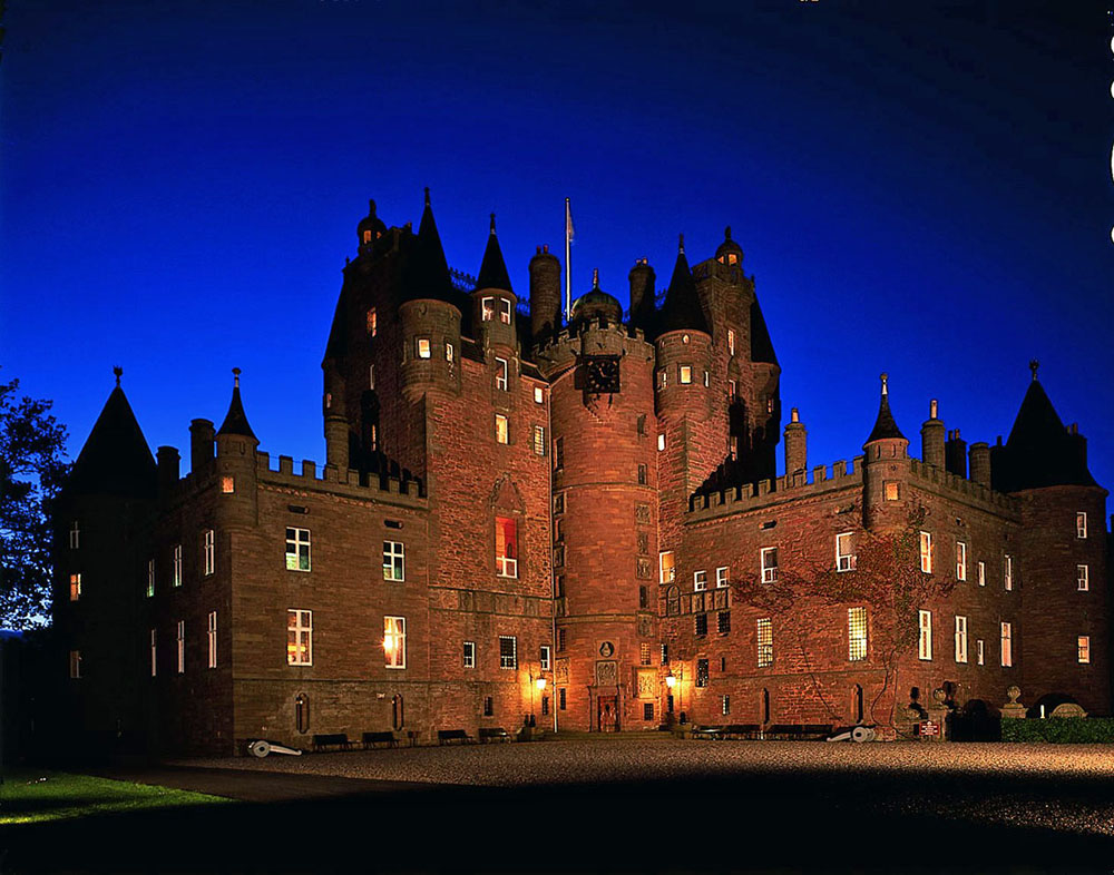 Glamis Castle by night. Credit: Glamis Castle