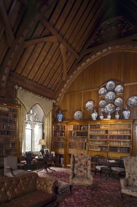 The library at Tyntesfield