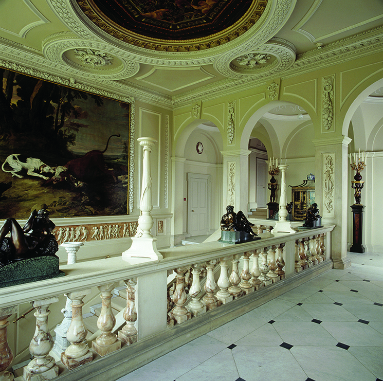 The Upper Marble Staircase at Kingston