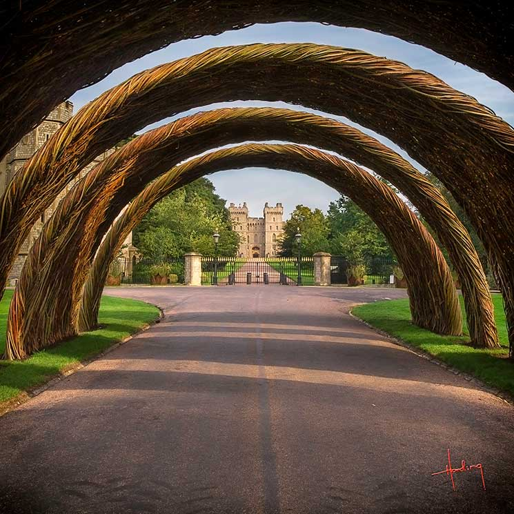 Windsor Castle and The Long Walk, seen through the Coronation Arch. Credit: VisitEngland/Doug Harding