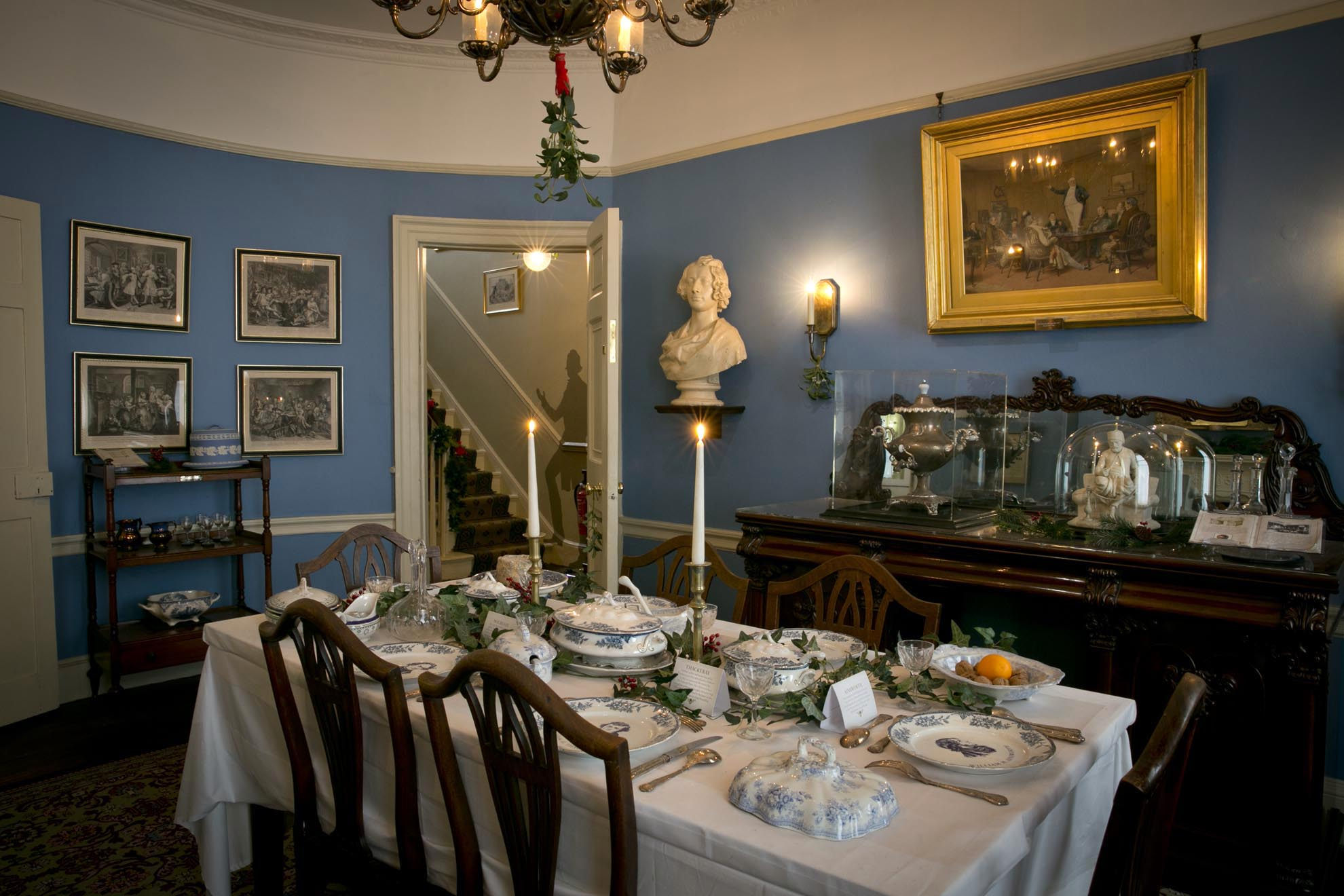 The Dining Room at the Charles Dickens Museum