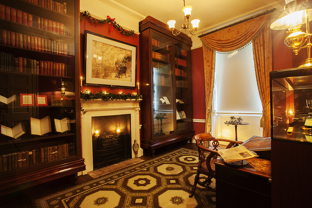 Dickens's study at the Charles Dickens Museum. Credit: The Charles Dickens Museum
