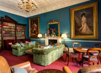 The library at The Gore Hotel, London