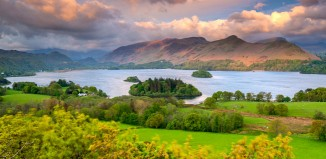 View across Derwentwater in the Lake District, Cumbria