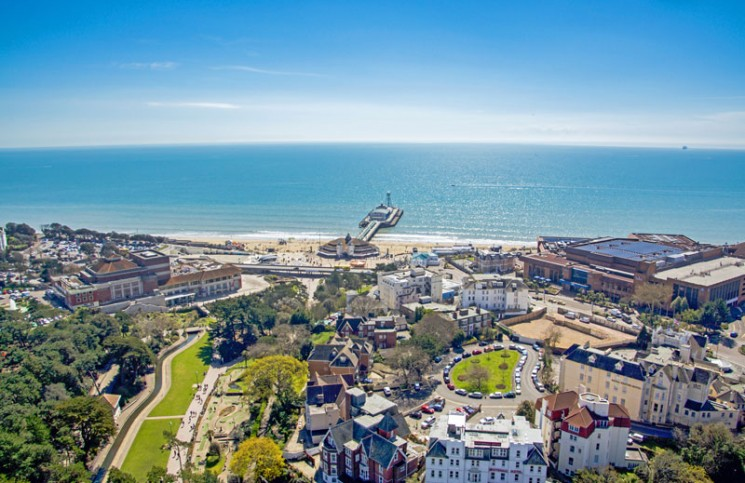 Aerial view of Bournemouth