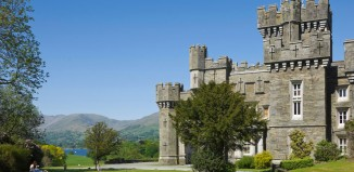 Wray Castle on the shore of Lake Windermere