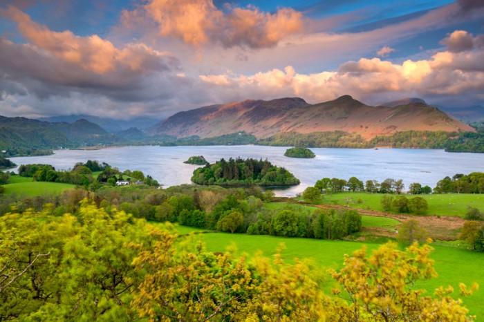 Derwentwater in the Lake District, Cumbria