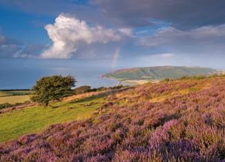 Exmoor hills overlooking Porlock Bay
