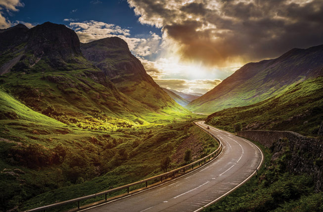 A82 near Lost Valley, Glen Coe. Credit: Shabaz Majeed, Scotland in Photographs