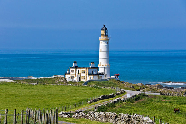 Corsewall Lighthouse, Dumfries and Galloway. Credit: John Peter Photography/Alamy