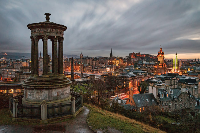Calton Hill Edinburgh. Credit: Shabaz Majeed, Scotland in Photographs